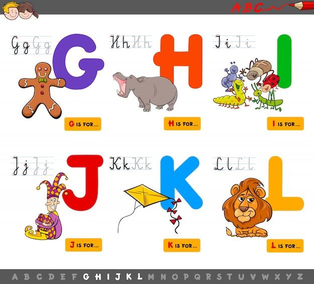 Alfabeto educativo dei cartoni animati per bambini