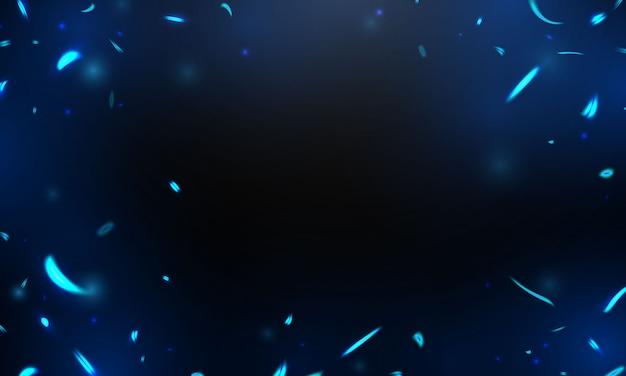 Effetto bruciare scintille roventi realistiche fiamme blu fuoco