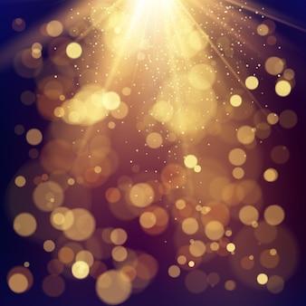 Effetto dei cerchi di bokeh di colore. sfondo festivo con luci sfocati.