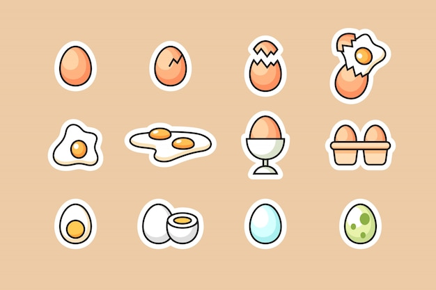 Set di icone di uova