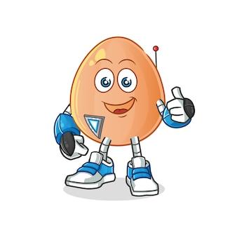 Illustrazione del carattere del robot dell'uovo