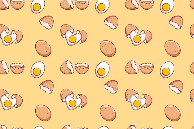 Progettazione dell'illustrazione di vettore del fondo a tema dell'uovo