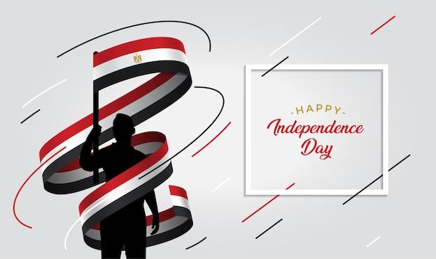 Illustrazione del giorno dell'indipendenza dell'egitto