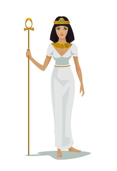 Egitto regina cleopatra isolata su bianco
