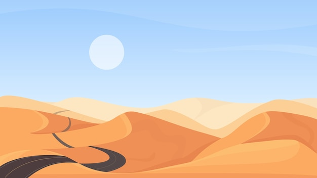 Illustrazione del paesaggio naturale del deserto egiziano