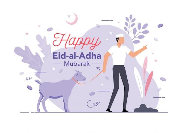 Eid al adha sacrificio concetto