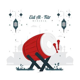 Illustrazione di concetto di eid al fitr mubarak