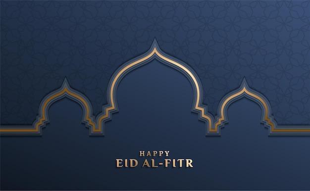 Eid al fitr con moschea d'oro