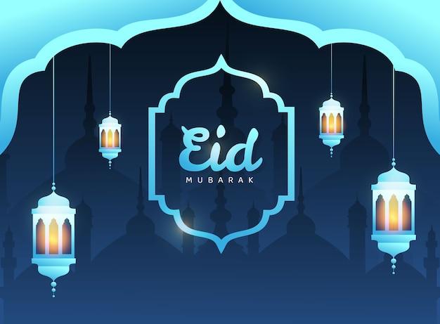 Eid mubarak sfondo sfumato