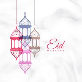 Eid mubarak lampade a sospensione saluto