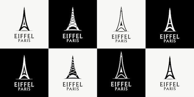 Vettore di progettazione del logo di parigi eiffel