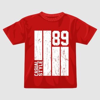 Ottantanove vettore t shirt design
