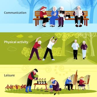 Insieme della priorità bassa di persone anziane