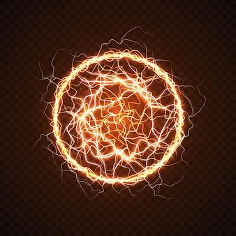 Sfera elettrica con effetto lampo