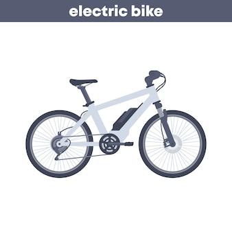 Illustrazione di bici elettrica