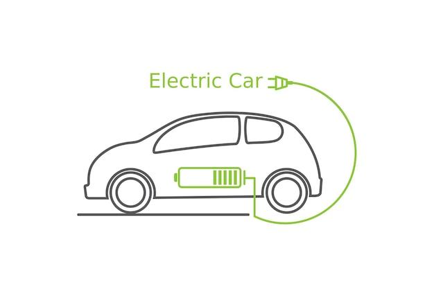 Auto elettrica, carica batteria.