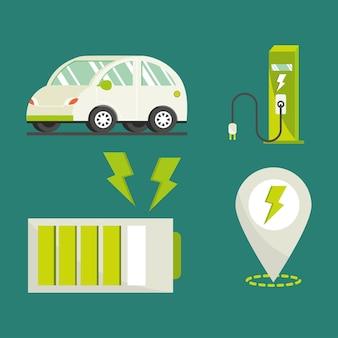 Set di elementi per auto elettriche