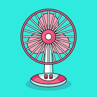 Illustrazione del ventilatore elettrico