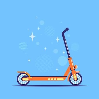 Scooter elettrico su sfondo blu