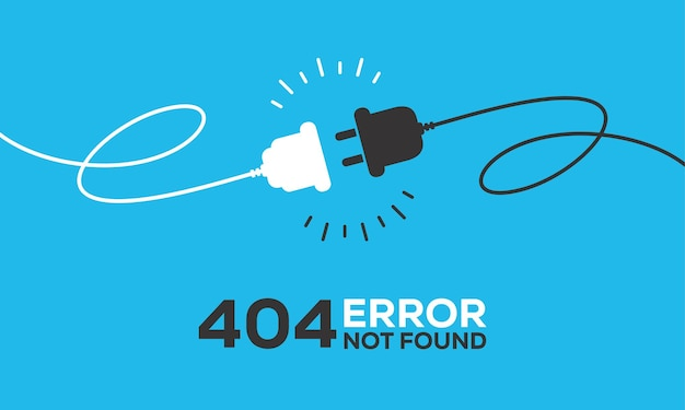 Presa elettrica con spina. concetto di connessione e disconnessione. concetto di connessione errore 404. spina elettrica e presa di corrente scollegate. filo, cavo di scollegamento dell'energia