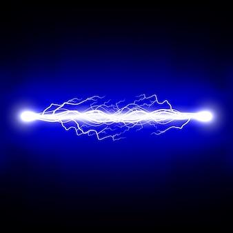 Scarica elettrica. fulmine. illustrazione.