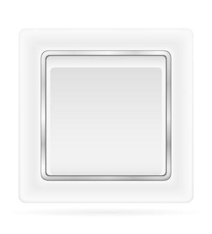 Interruttore elettrico per cablaggio elettrico interno isolato su bianco
