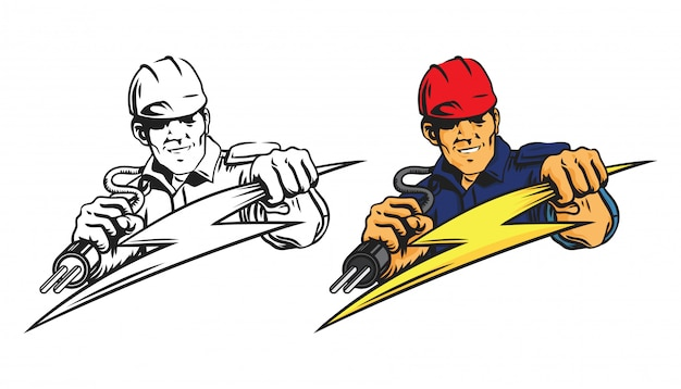 Logo uomo elettricista
