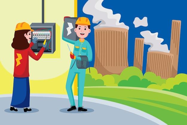 Professione di elettricista