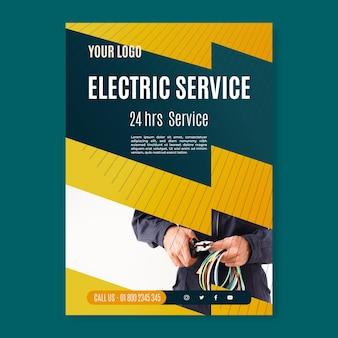 Modello di poster di servizio elettricista