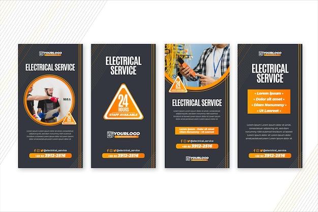 Modello di storie di elettricista