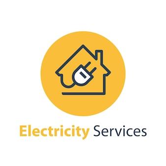Illustrazione di servizi di riparazione e manutenzione di elettricità