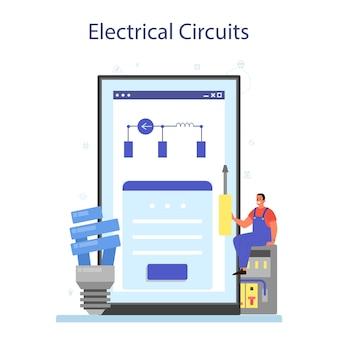 Servizio online di servizi di elettricità o piattaforma