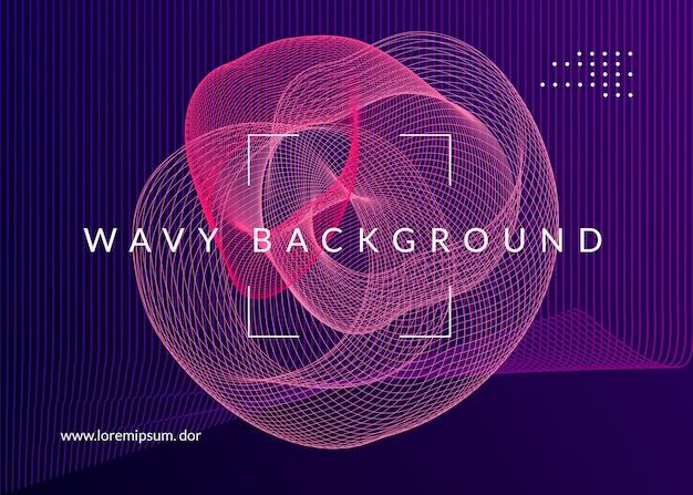 Flyer neon musica elettro dance