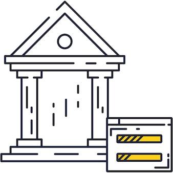Icona di vettore del conto bancario elettronico su bianco
