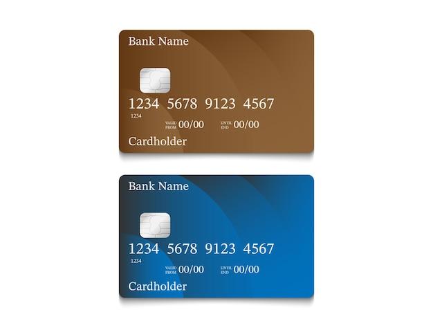 Design della carta di denaro elettronico in marrone e blu