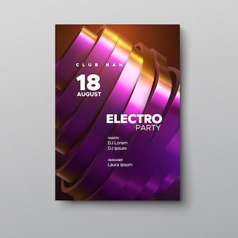 Modello di manifesto pubblicitario festa di festival di musica elettronica