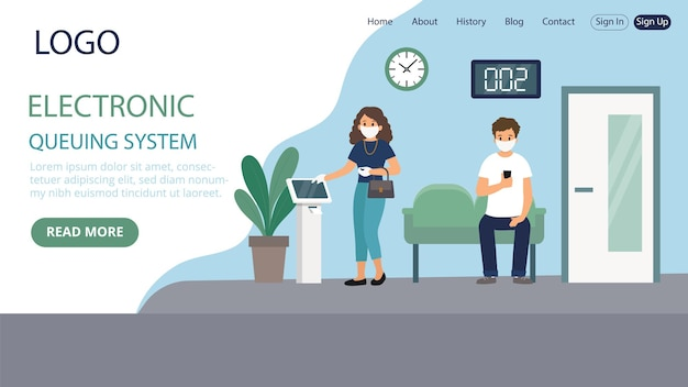 Pagina di destinazione del sistema di accodamento elettronico