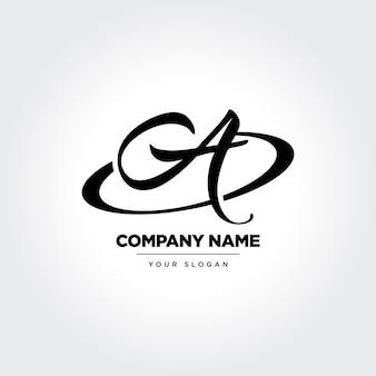 Elegan lettera a icon design