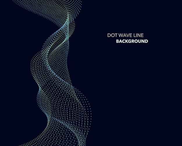 Elegante linea astratta dot wave linea futuristica sfondo stile