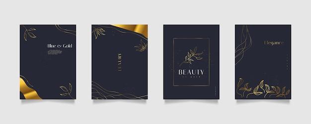 Eleganti modelli di sfondo floreale astratto, adatti per la decorazione della parete, carta da parati, copertina, invito, banner, brochure, poster o carta