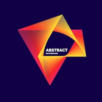 Elegante poster astratto con linee colorate su sfondo scuro. illustrazione vettoriale