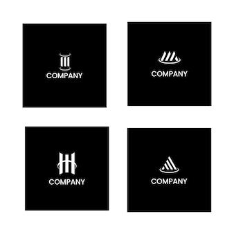 Elegante logo di design contabile