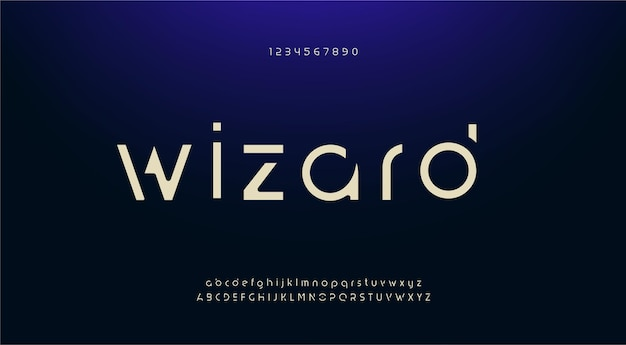 Carattere di lettere dell'alfabeto elegante. moderno serif lettering moda minimal
