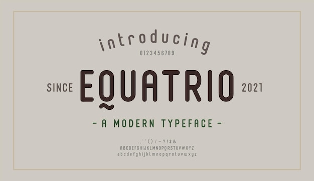 Carattere e numero di lettere dell'alfabeto eleganti. lettering moderno design alla moda minimale. tipografia moderni caratteri serif decorativi concetto vintage retrò. illustrazione vettoriale
