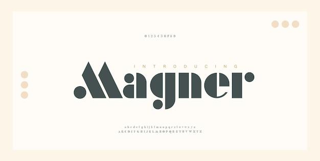 Carattere e numero di lettere dell'alfabeto eleganti. caratteri serif moderni di lusso di tipografia concetto dell'annata decorativa regolare. illustrazione