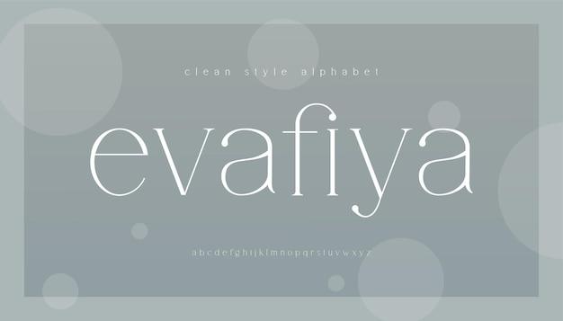 Elegante alfabeto lettere serif font Vettore Premium