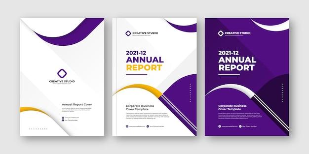 Elegante relazione annuale business flyer design moderno modello