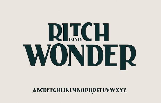 Carattere di lettere dell'alfabeto fantastico elegante. lettering classico design minimale della moda