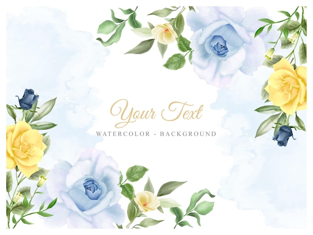 Acquerello floreale sfondo elegante
