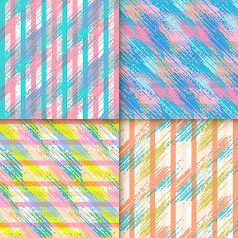Elegante motivo di sfondo con elementi geometrici colorati